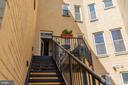 Rear Stairs down to Parking Space - 600 KENTUCKY AVE SE #B, WASHINGTON