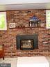 Brick gas fireplace - 2500 CHILDS LN, ALEXANDRIA