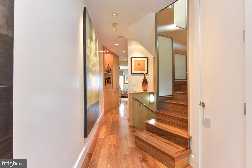 Foyer inviting you to ascend the stairs upstairs - 1744 WILLARD ST NW, WASHINGTON