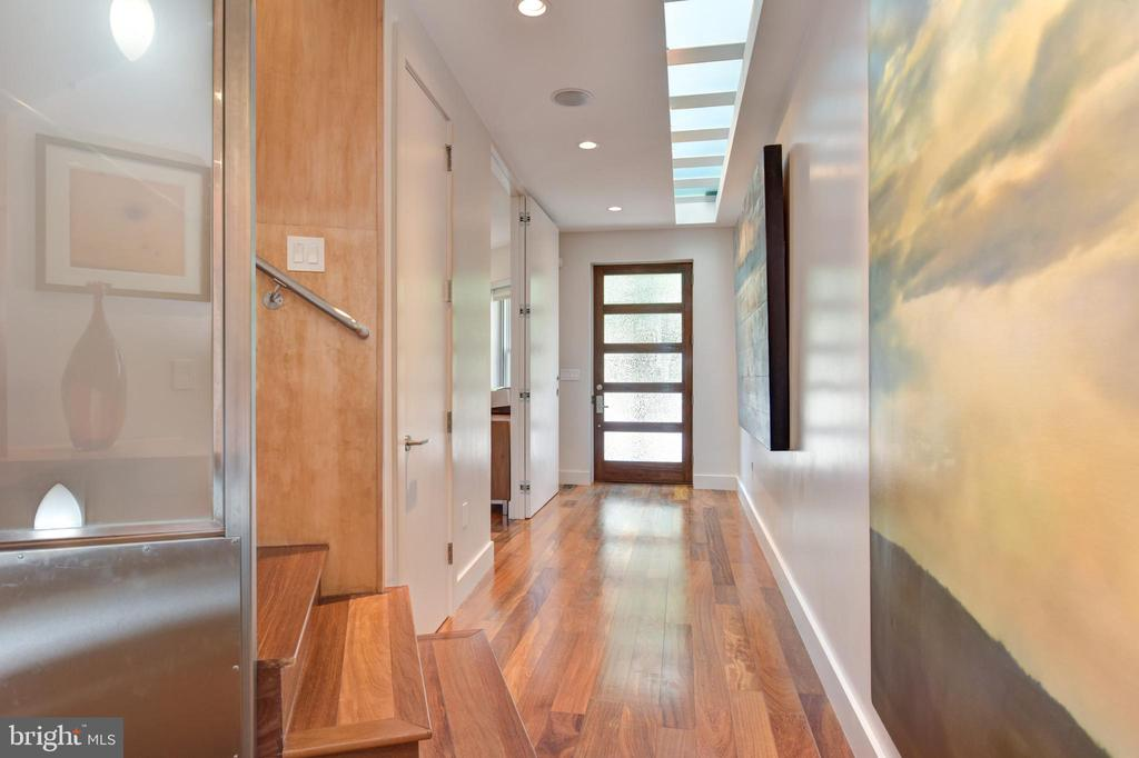 Entry Foyer flooded with natural light - 1744 WILLARD ST NW, WASHINGTON