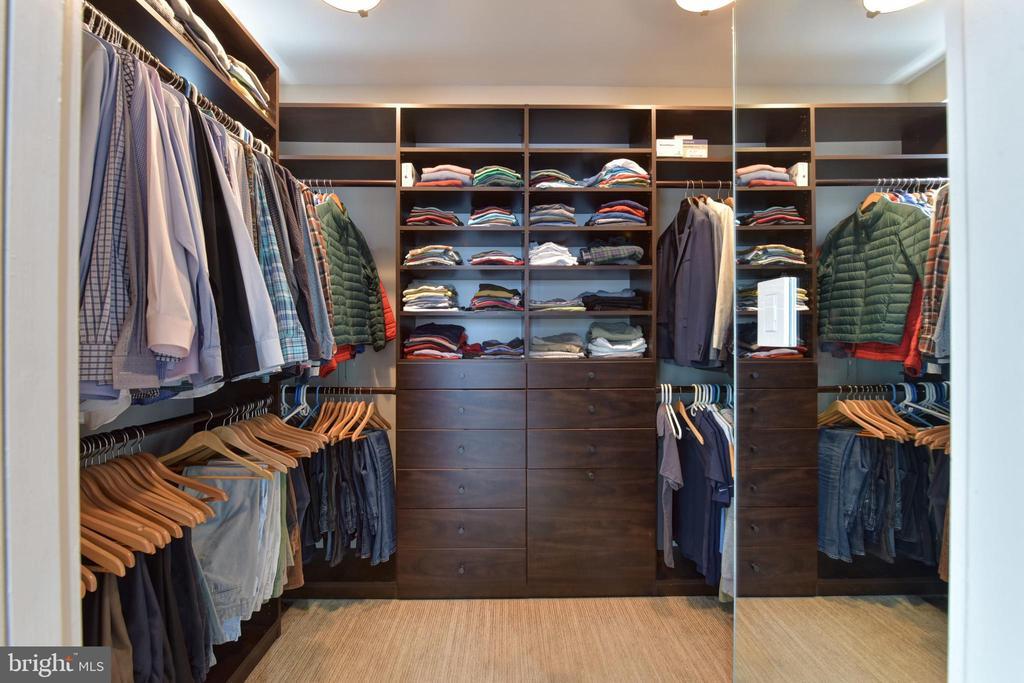 Owner's Custom-Designed Walk-In Closet - 1744 WILLARD ST NW, WASHINGTON