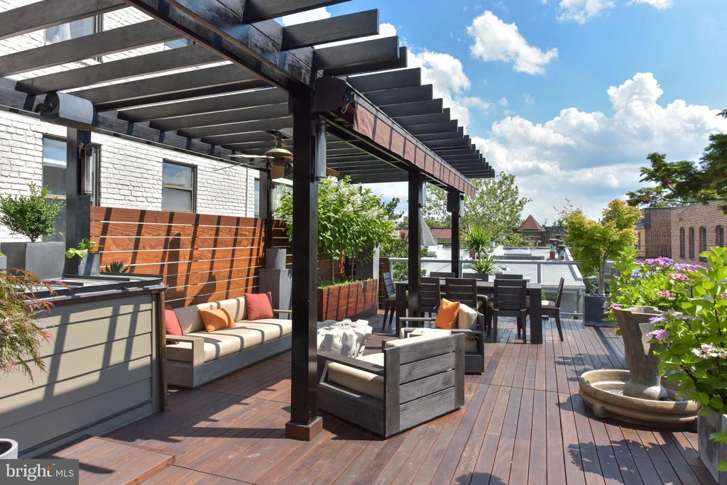 Expansive roof terrace - 1744 WILLARD ST NW, WASHINGTON