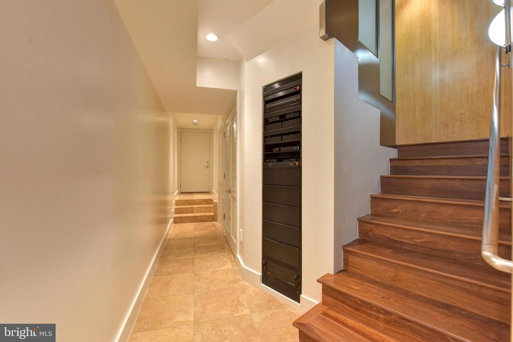 Lower Level with Whole Home Entertainment System - 1744 WILLARD ST NW, WASHINGTON