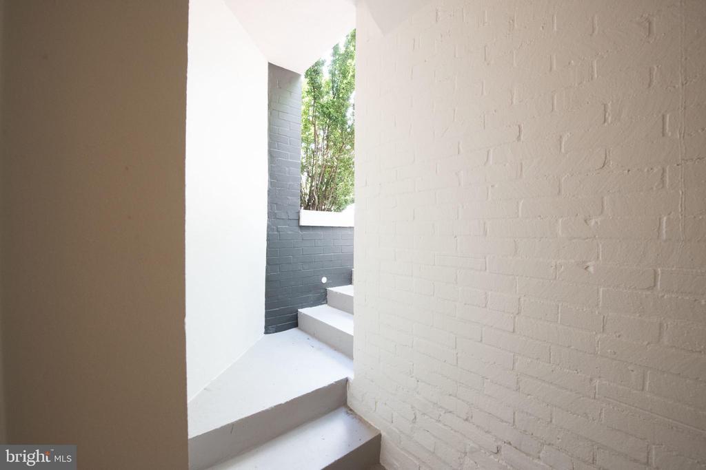 Exterior Stairs from Lower Level - 1744 WILLARD ST NW, WASHINGTON