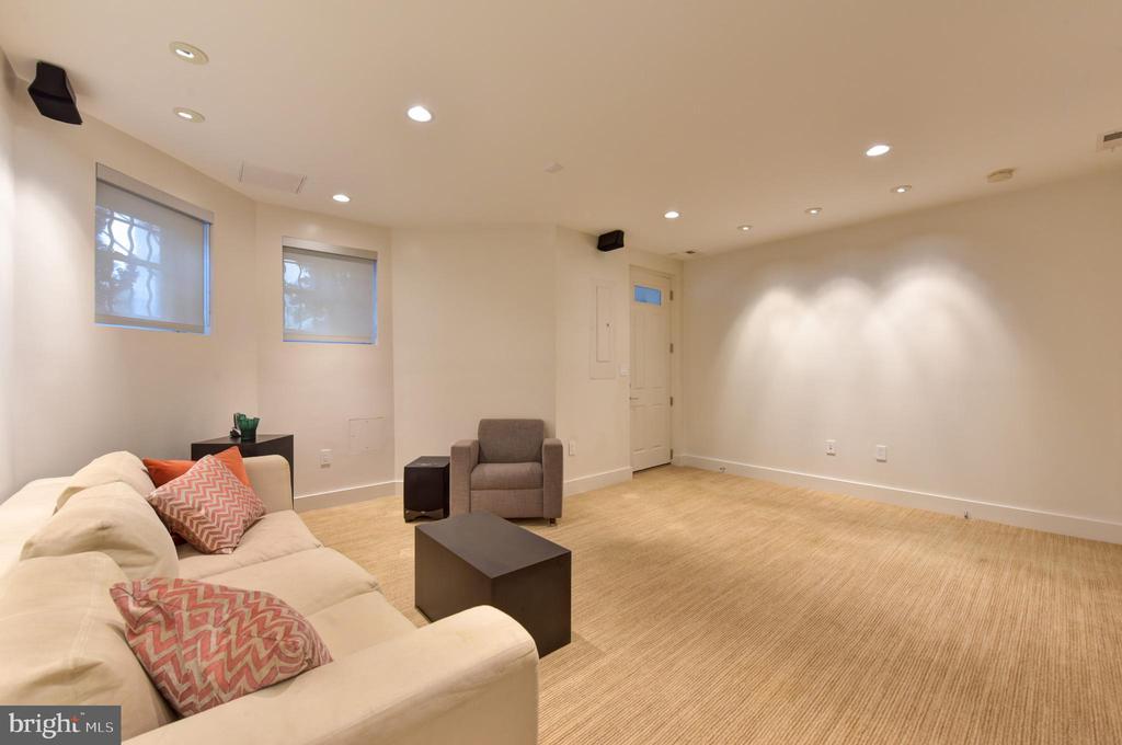 Lower Level Family Room with Exterior Door - 1744 WILLARD ST NW, WASHINGTON