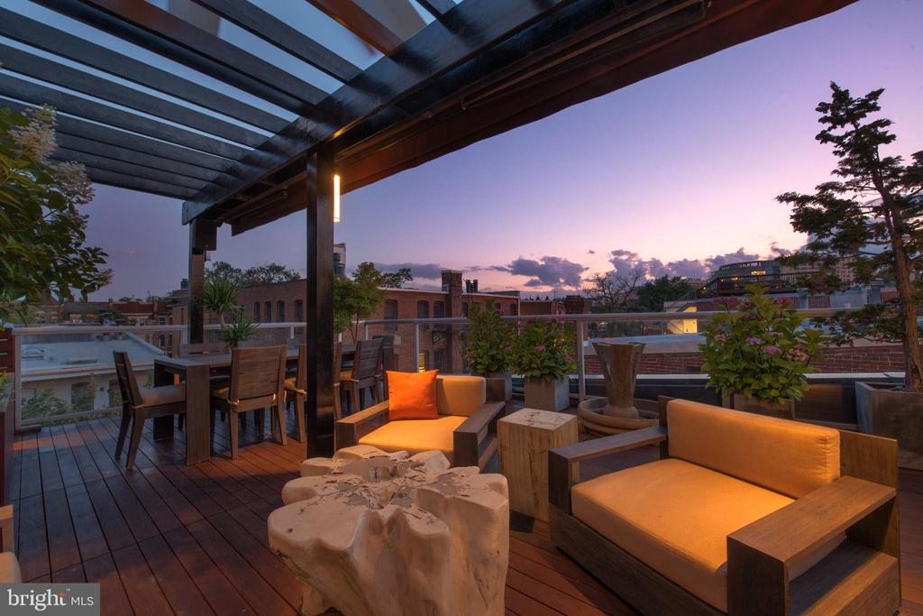 Custom Roof Terrace Lighting - 1744 WILLARD ST NW, WASHINGTON