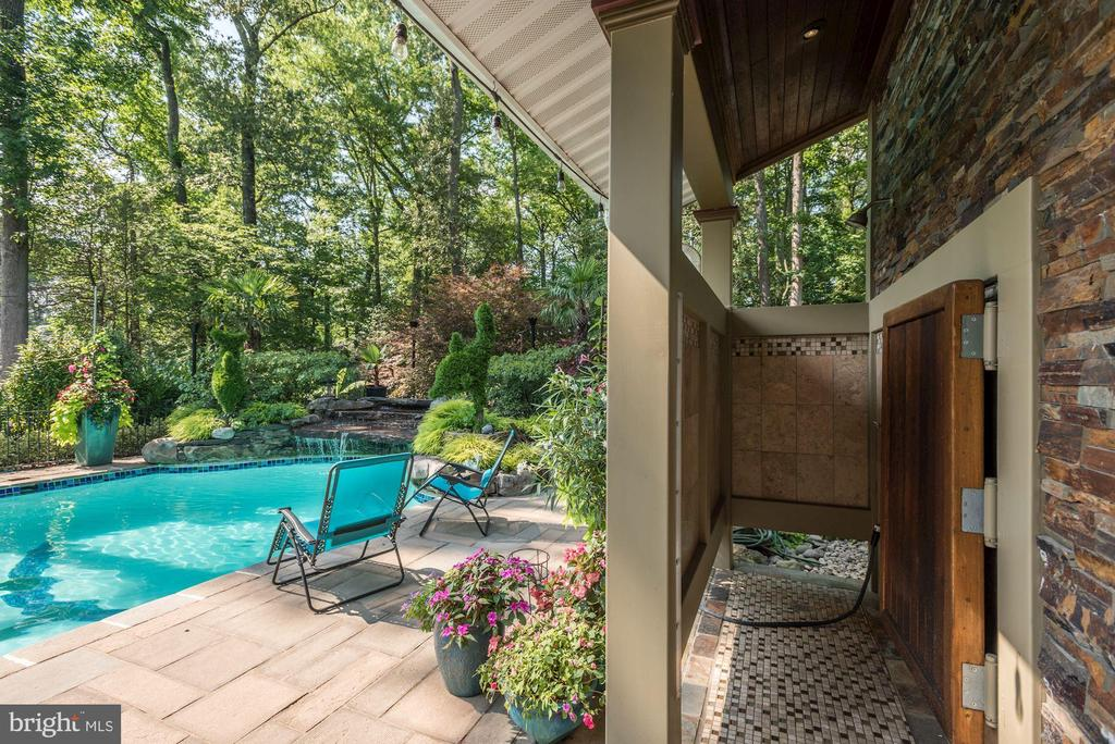 Pool and Outdoor Shower - 4512 DOLPHIN LN, ALEXANDRIA