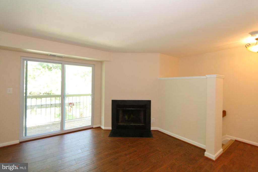 Wood Burning Fireplace and TV wall - 13619 ORCHARD DR, CLIFTON