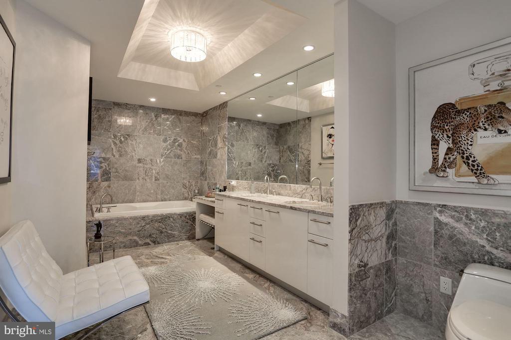 Master Bath with Dual Sinks and Make-Up Vanity - 1881 N NASH ST #703, ARLINGTON