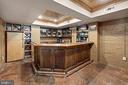 Built in bar with multiple wine racks - 406 HANOVER ST, FREDERICKSBURG