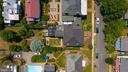 Aerial view shows generous size of both lots - 406 HANOVER ST, FREDERICKSBURG
