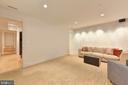 Family Room shown with blank wall - 1744 WILLARD ST NW, WASHINGTON