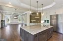 Kitchen with Taj Mahal Quartz Counters - 105 MASHIE CT SE, VIENNA