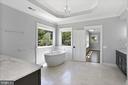 Master Bathroom with Carrara Marble Countertops - 105 MASHIE CT SE, VIENNA