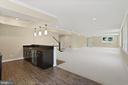 Basement rec room with wet bar - 105 MASHIE CT SE, VIENNA