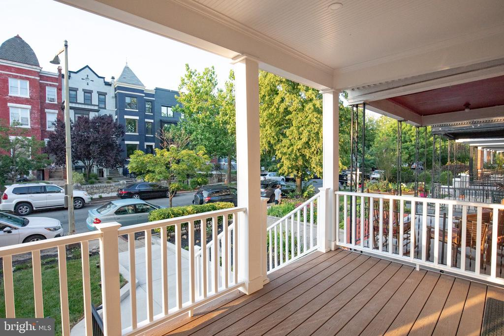 Right front porch view of the neighborhood - 50 BRYANT ST NW, WASHINGTON
