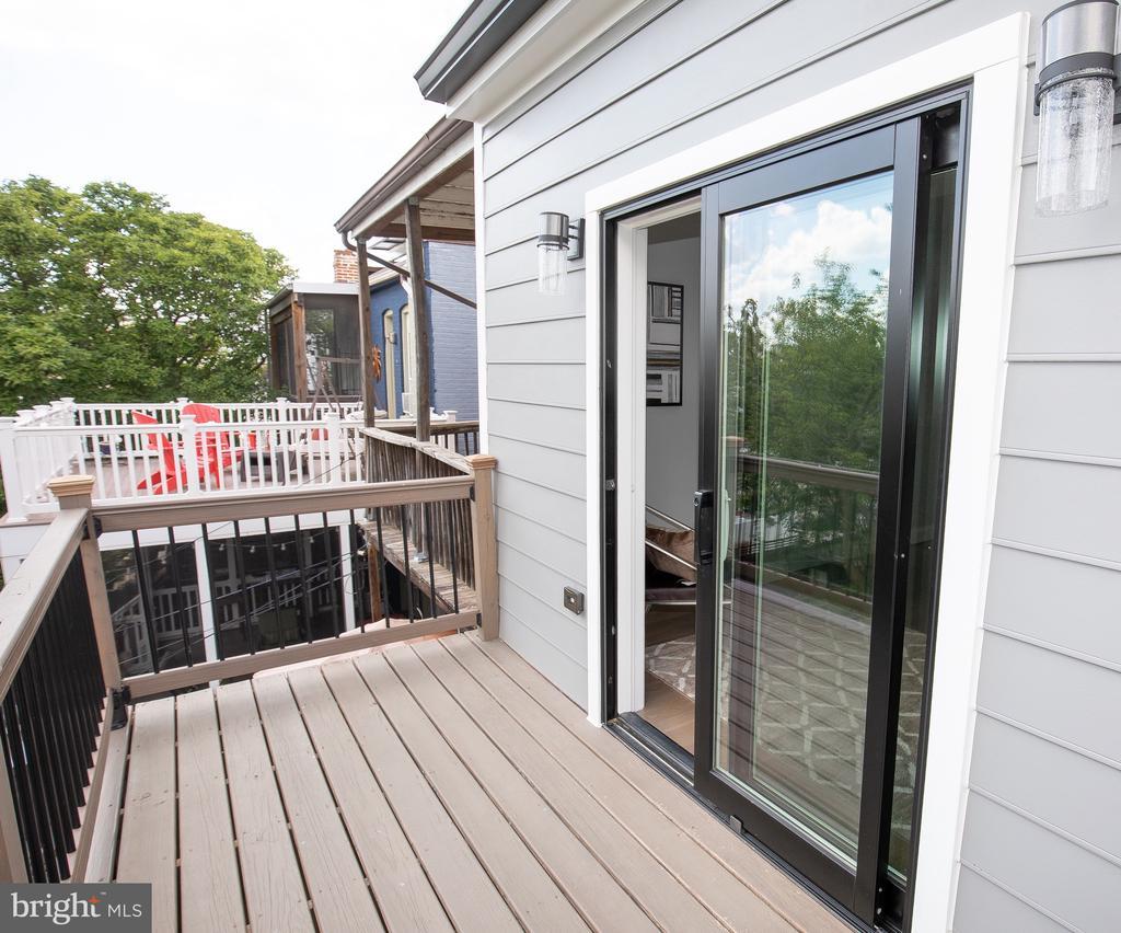 Master bedroom deck - 50 BRYANT ST NW, WASHINGTON