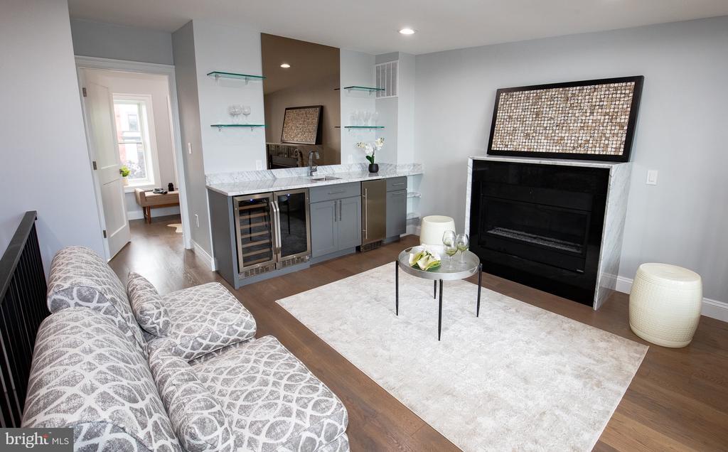 3rd level entertainment/family room - 50 BRYANT ST NW, WASHINGTON