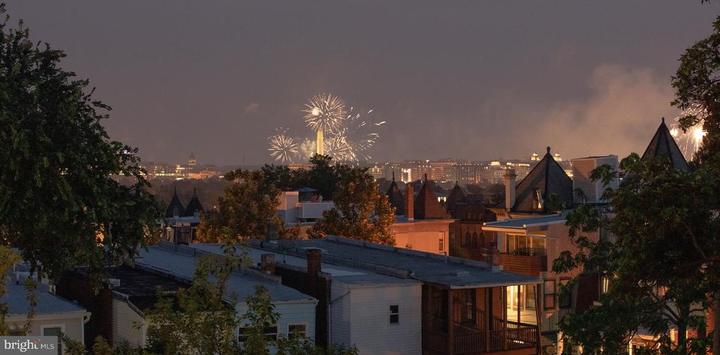 Roof top deck view during the 2020 4th of July - 50 BRYANT ST NW, WASHINGTON
