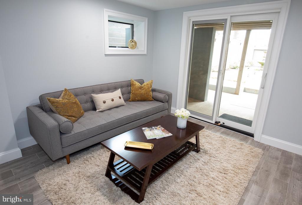 Bedroom #6 sliding door to patio - 50 BRYANT ST NW, WASHINGTON