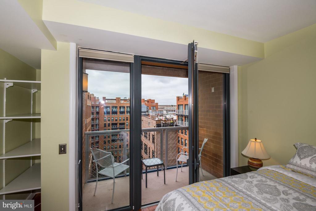 Bedroom Opens up to Balcony No. 2 - 616 E ST NW #1201, WASHINGTON
