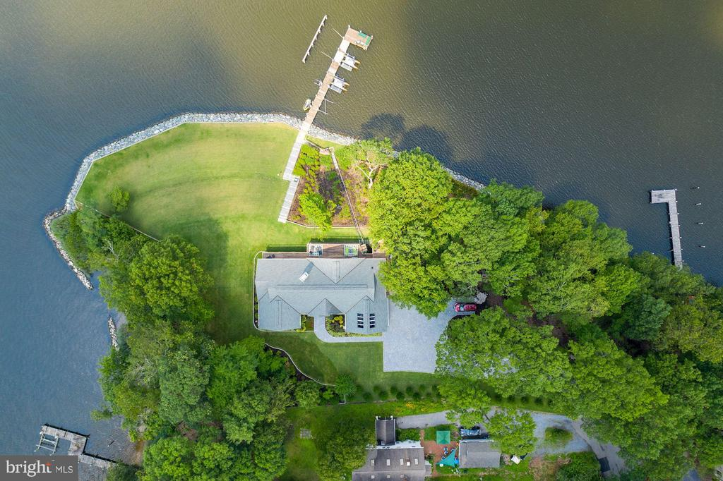 Aerial View of  Over 700 Feet of Water Frontage - 2920 SOUTHWATER POINT DR, ANNAPOLIS