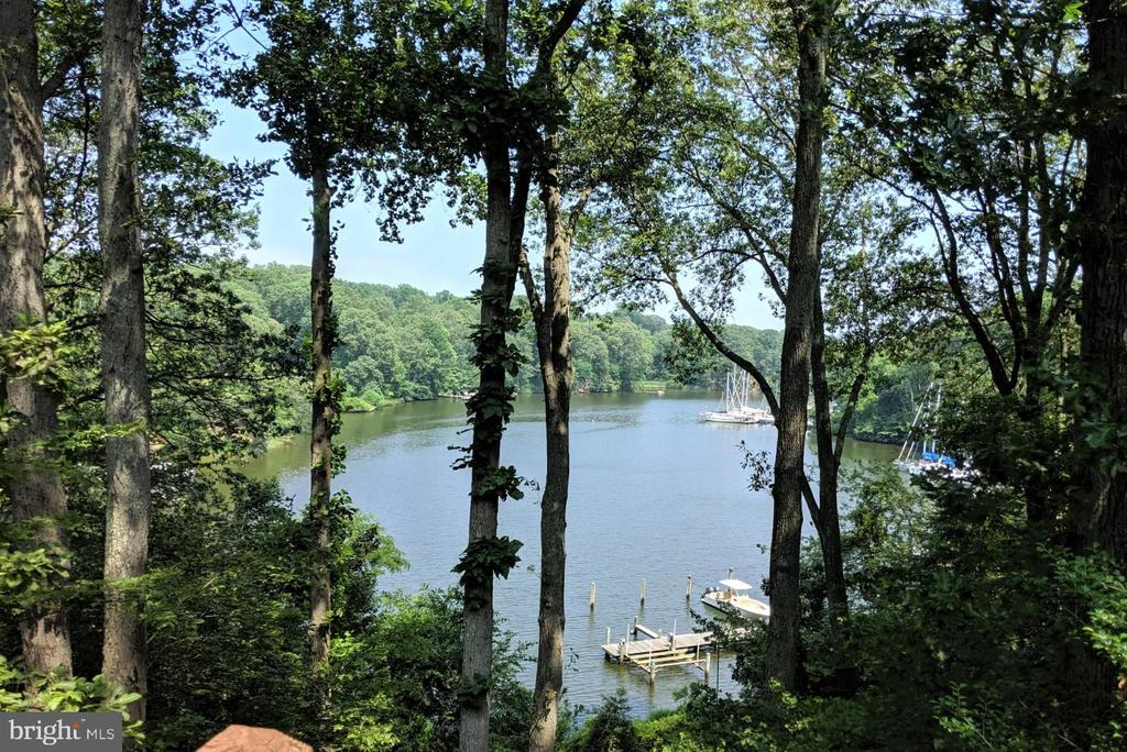 view from one of several main house decks - 236 MOUNTAIN LAUREL LN, ANNAPOLIS