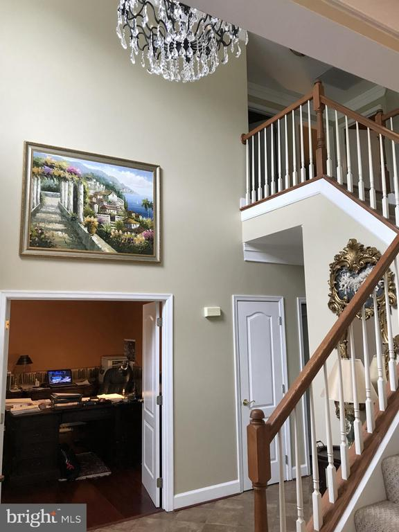 Two story foyer with office on left - 11079 SANANDREW DR, NEW MARKET