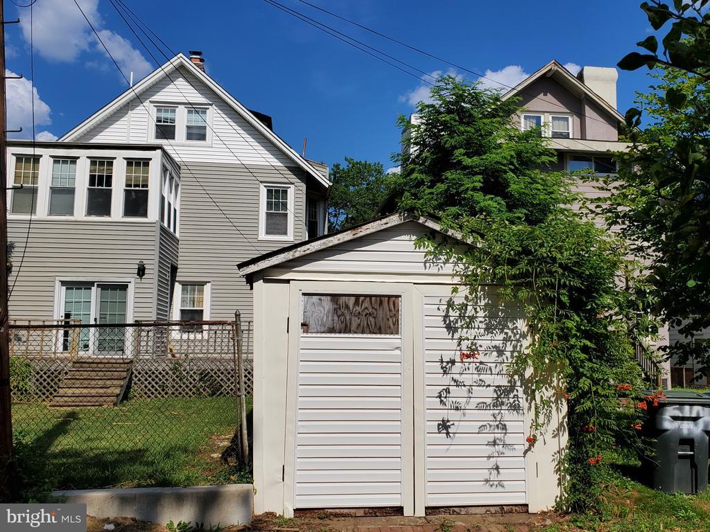 Rear and small garage - 5106 14TH ST NW, WASHINGTON