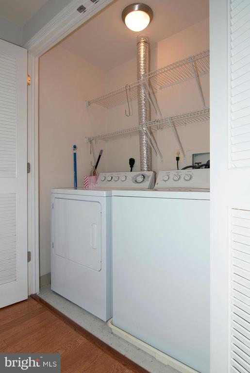 Washer and dryer, side-by-side - 5750 BOU AVE #1508, NORTH BETHESDA