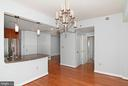 kitchen  bar  for  extra seating  with barstools - 5750 BOU AVE #1508, NORTH BETHESDA