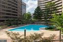 Balcony views from master bedroom - 1300 CRYSTAL DR #306S, ARLINGTON