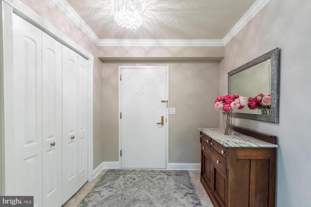Entry foyer w/ large coat closet - 1300 CRYSTAL DR #306S, ARLINGTON
