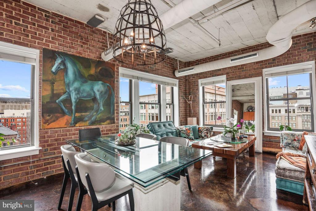 Dining Area with gorgeous panoramic city views. - 916 G ST NW #1004, WASHINGTON