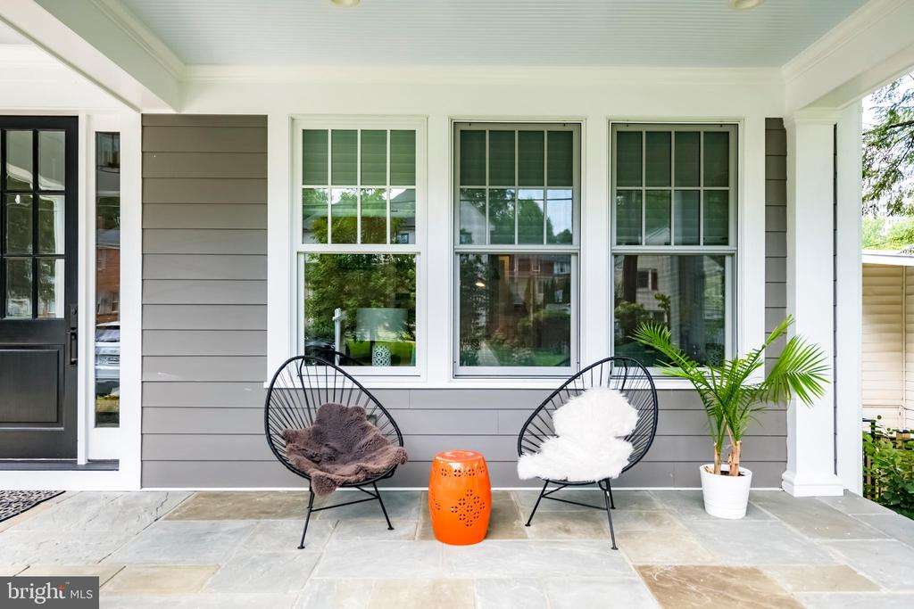 Relax on the spacious front porch! - 4522 CHELTENHAM DR, BETHESDA