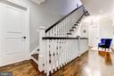 Wide stair case to the third floor - 4522 CHELTENHAM DR, BETHESDA