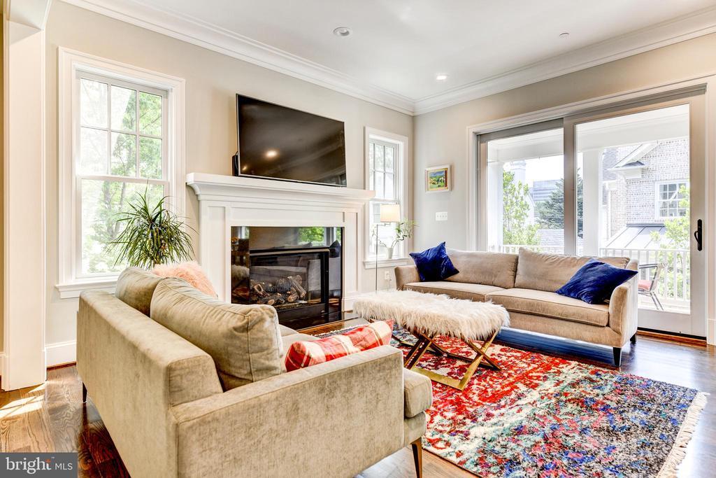 Family room w/gas fireplace - 4522 CHELTENHAM DR, BETHESDA