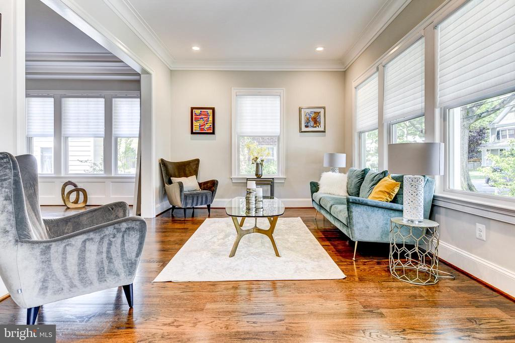 Awash with natural light in the spacious living rm - 4522 CHELTENHAM DR, BETHESDA