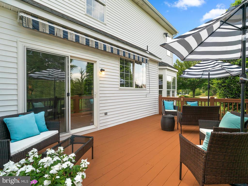 Spacious Sundeck with Awning and Stairs to Yard - 43820 LAUREL RIDGE DR, ASHBURN