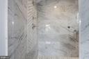 Inlaid marble  design (Owner's shower) - 4522 CHELTENHAM DR, BETHESDA