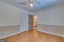 Bedroom 3: Wood Flooring, Ceiling Fan, Chair Rail - 3256 TITANIC DR, STAFFORD