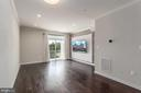 View from kitchen into family room! - 23305 MILLTOWN KNOLL SQ #112, ASHBURN
