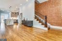 Exposed Brick Wall in Living Room - 602 E ST SE #A, WASHINGTON