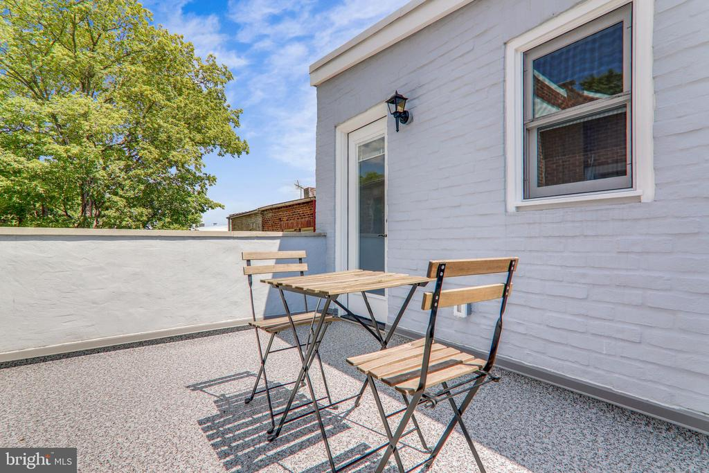 Roof Deck Accessible Without Going Through Bedroom - 602 E ST SE #A, WASHINGTON