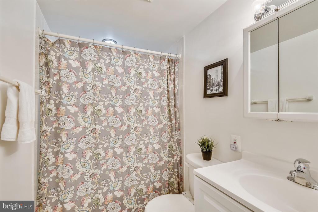 Lower level full hall bathroom with tub - 9031 GREYLOCK ST, ALEXANDRIA