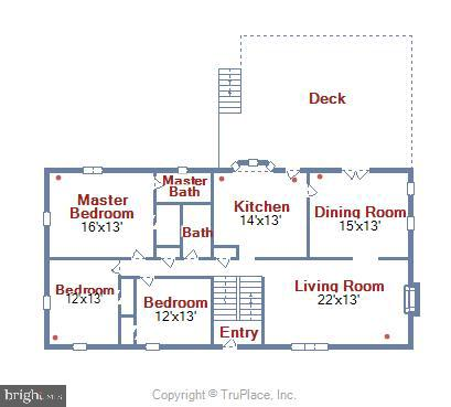Main level floorplan - 9031 GREYLOCK ST, ALEXANDRIA