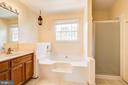 Master bath with jacuzzi tub and stall shower - 14810 CROSSVALLEY RD, BURTONSVILLE