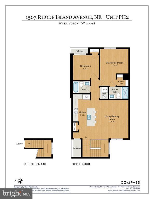 Floor Plan - PH2 - 1507 RHODE ISLAND AVE NE #PH2, WASHINGTON