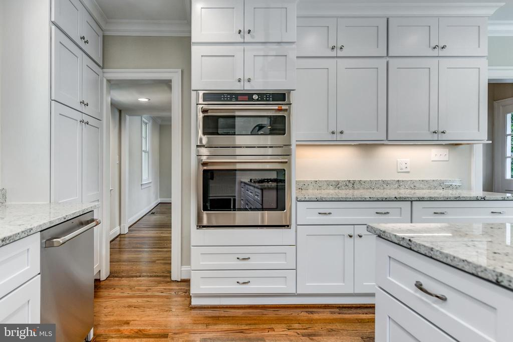Double oven, microwave/convection oven on top - 4401 GARRISON ST NW, WASHINGTON