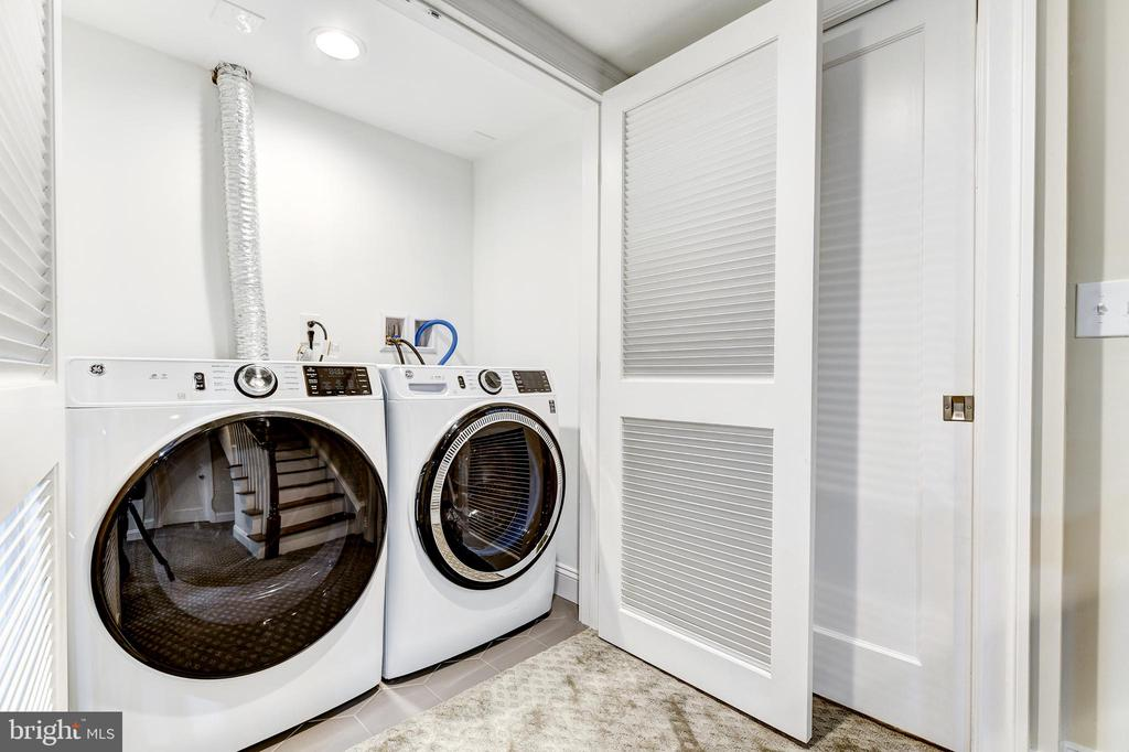 Laundry closet -Full size washer and dryer - 4401 GARRISON ST NW, WASHINGTON